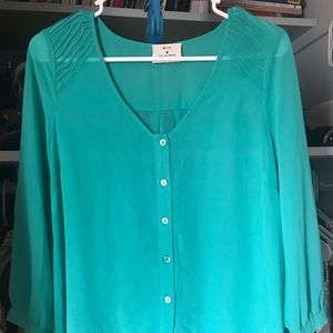 High/low sheer Pins and Needles blouse size M